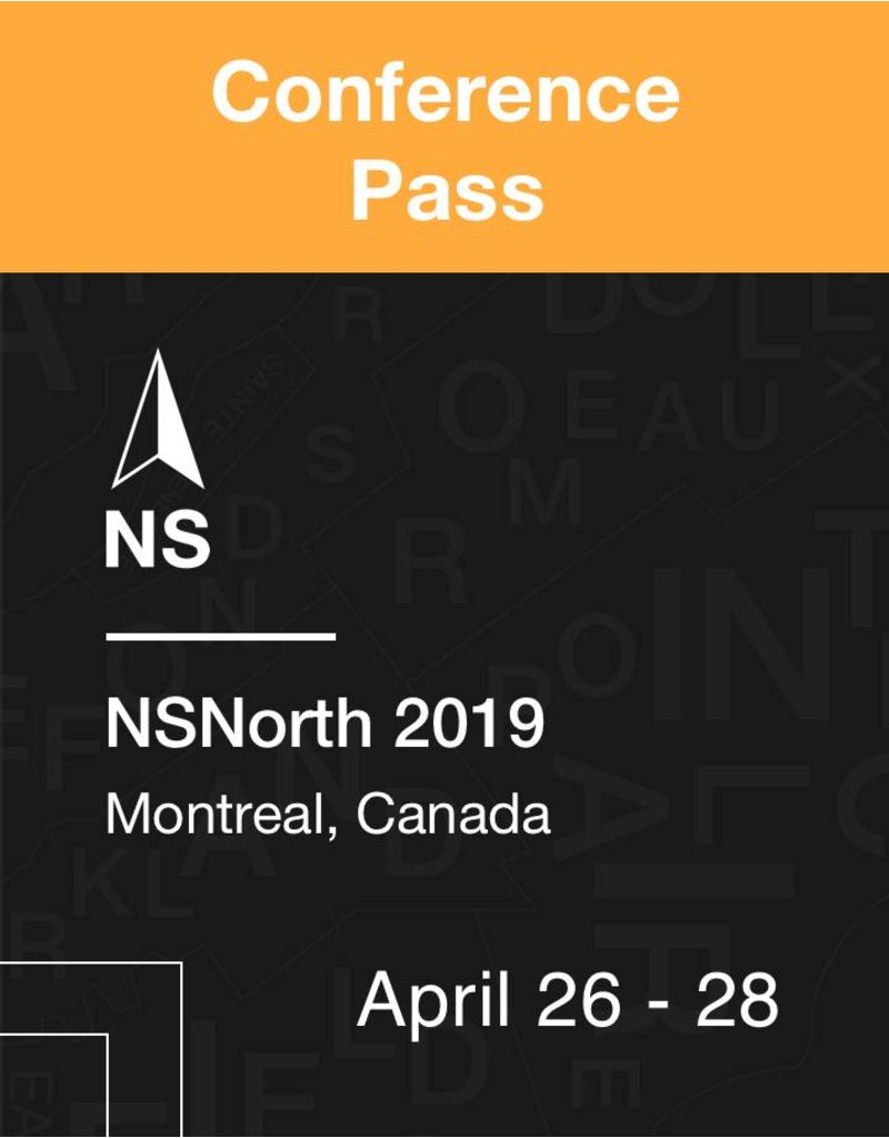 NSNorth NSNorth 2019 Conference Pass