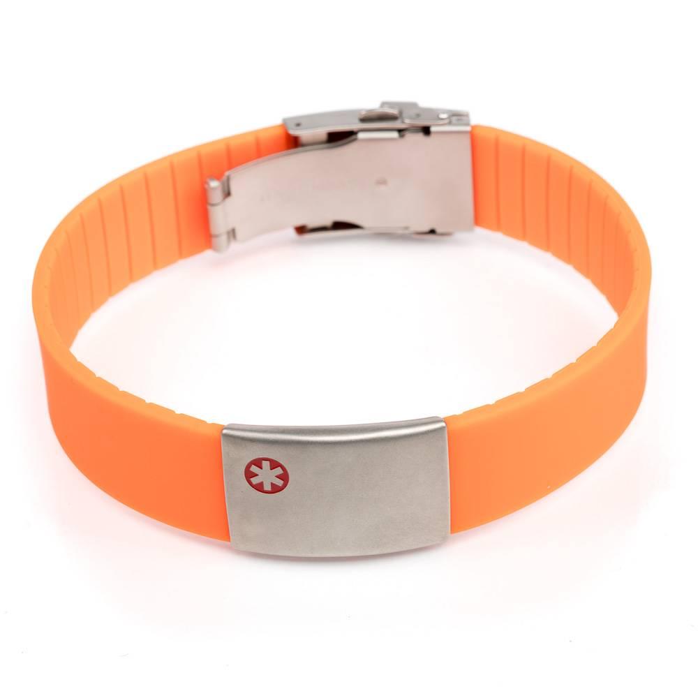 Medical Alert Bracelet >> Medical Bracelet Orange Icetagsid