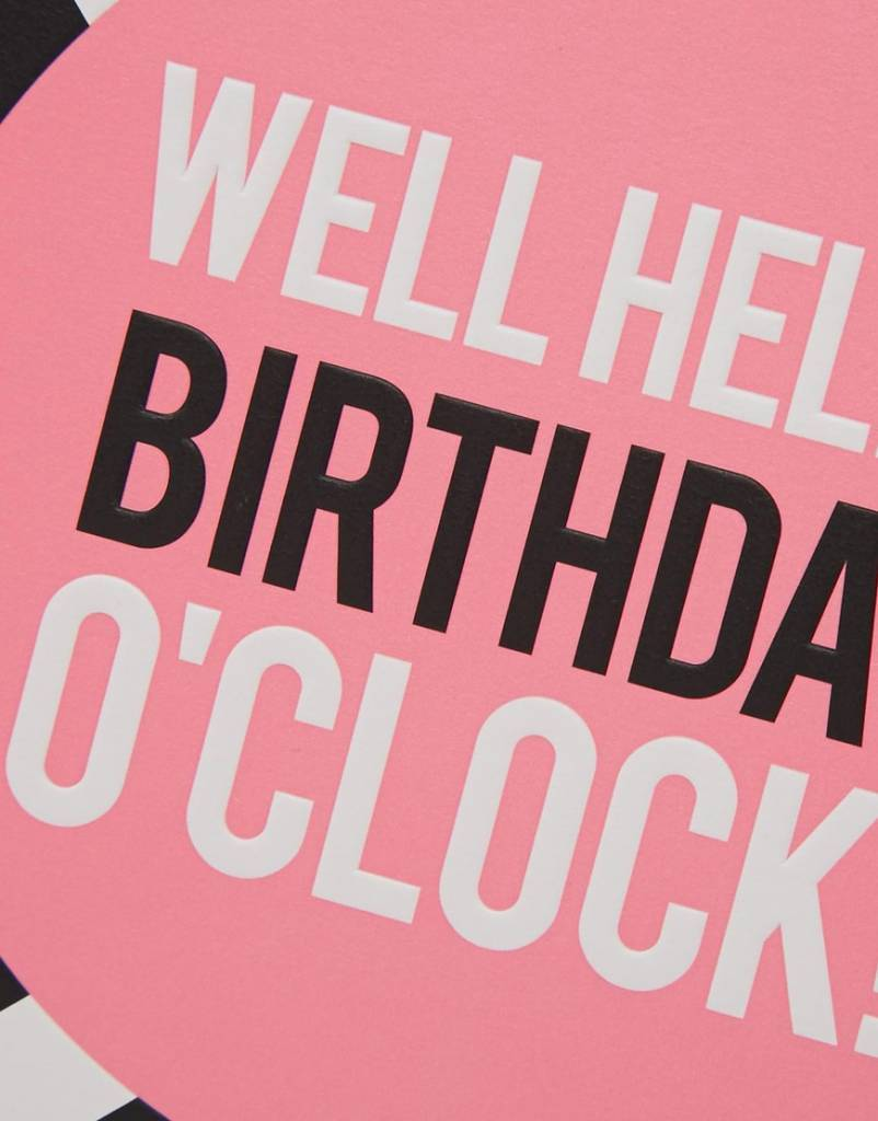 Commodo Birthday clock