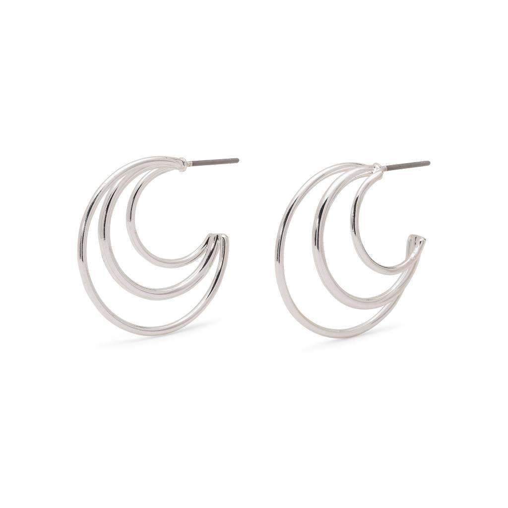Pilgrim Boucles d'oreilles Akira silver