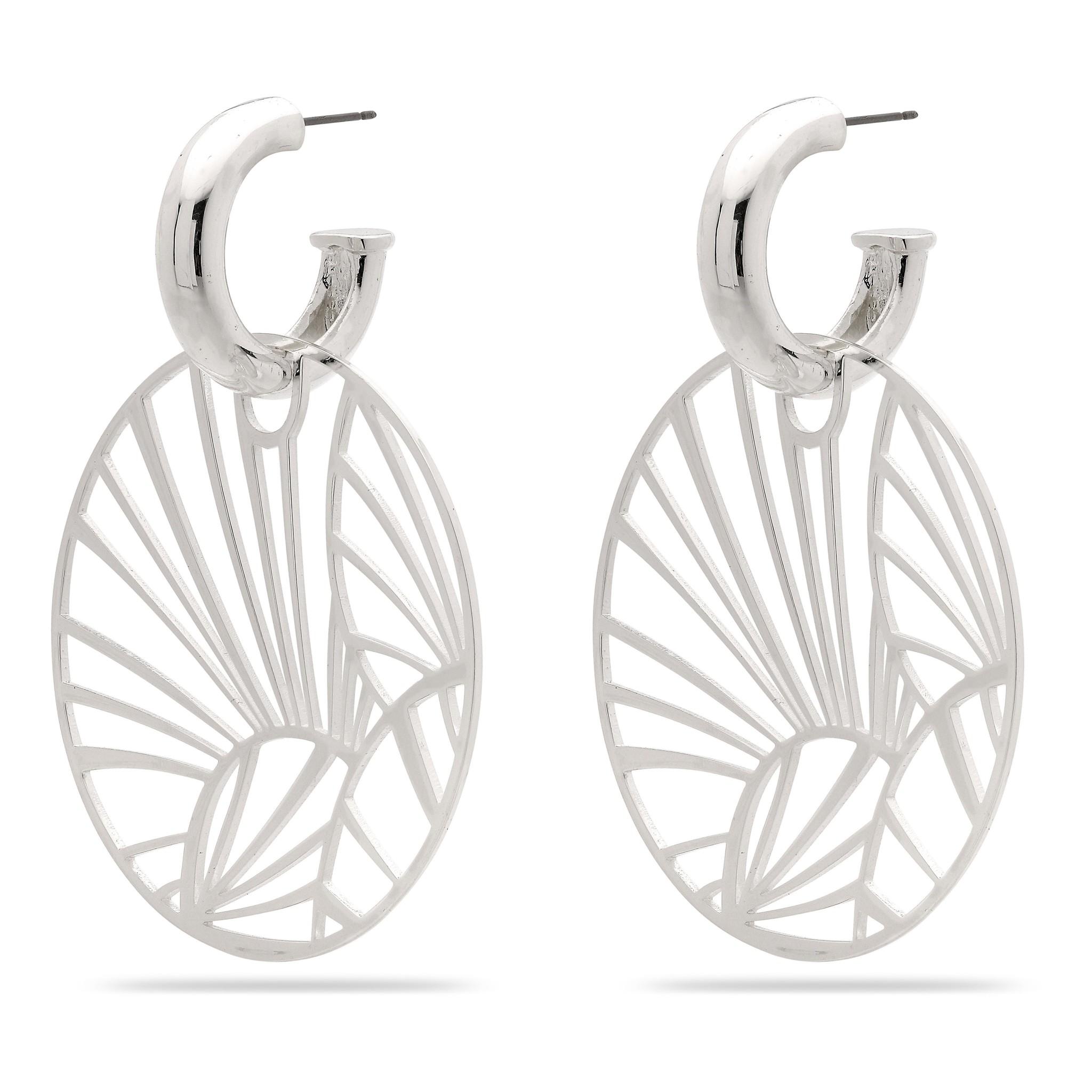 Pilgrim Boucles d'oreilles Asami 2 dans 1 silver