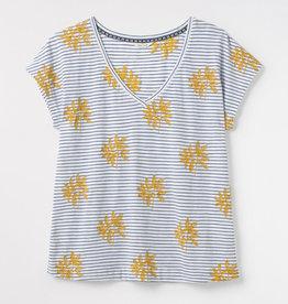 White Stuff T-Shirt Fun Stripe Brodé