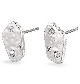 Boucles d'oreilles Skuld silver Crystal
