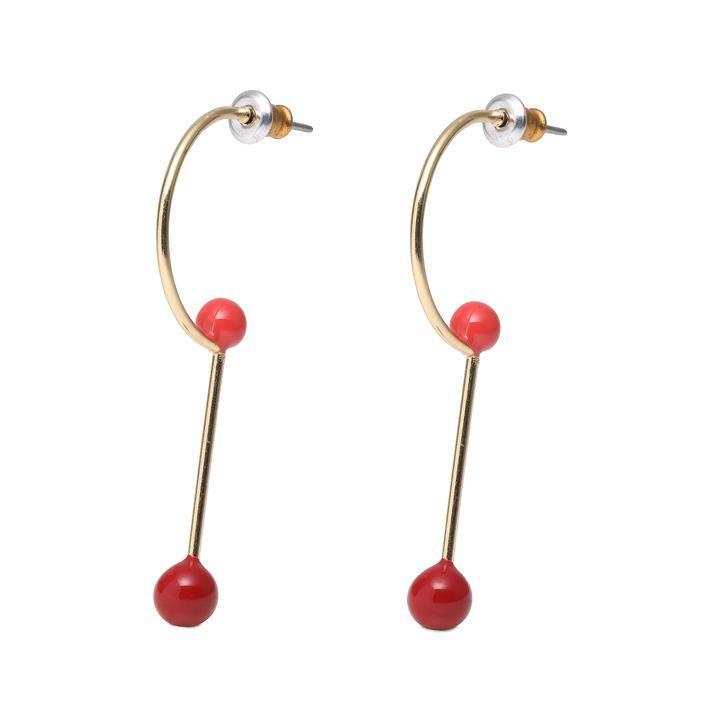 Pilgrim Boucles d'oreilles Agnes or et rouge