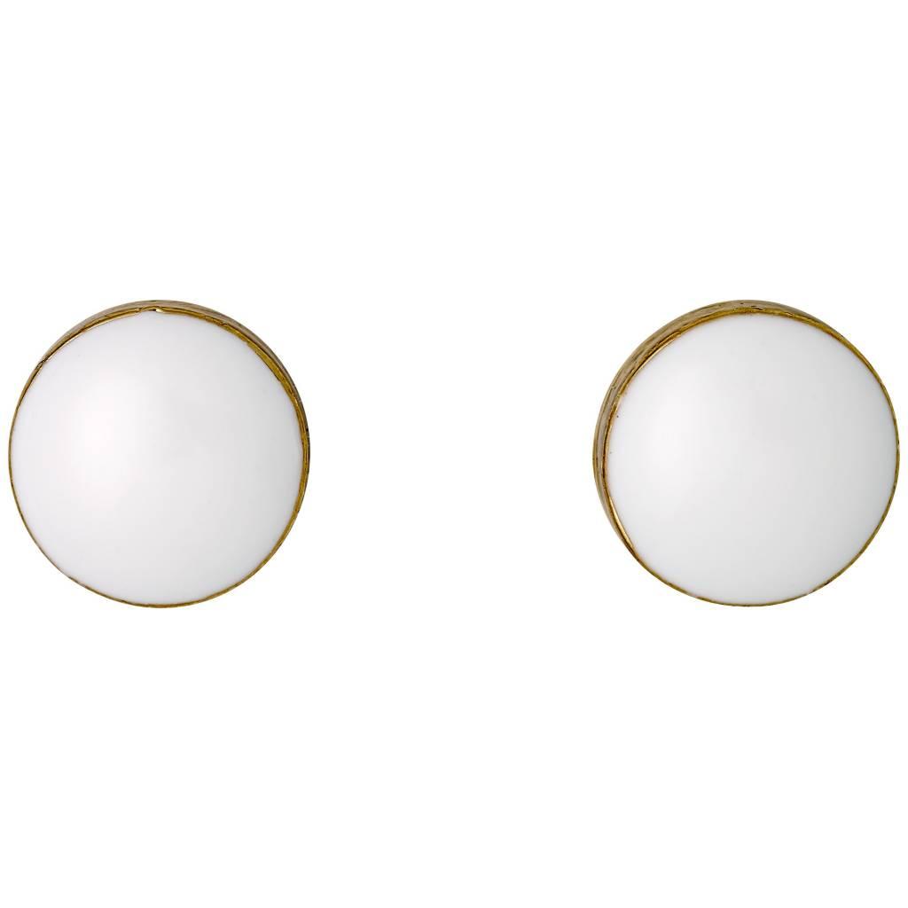 Pilgrim Boucles d'oreilles gold/blanc