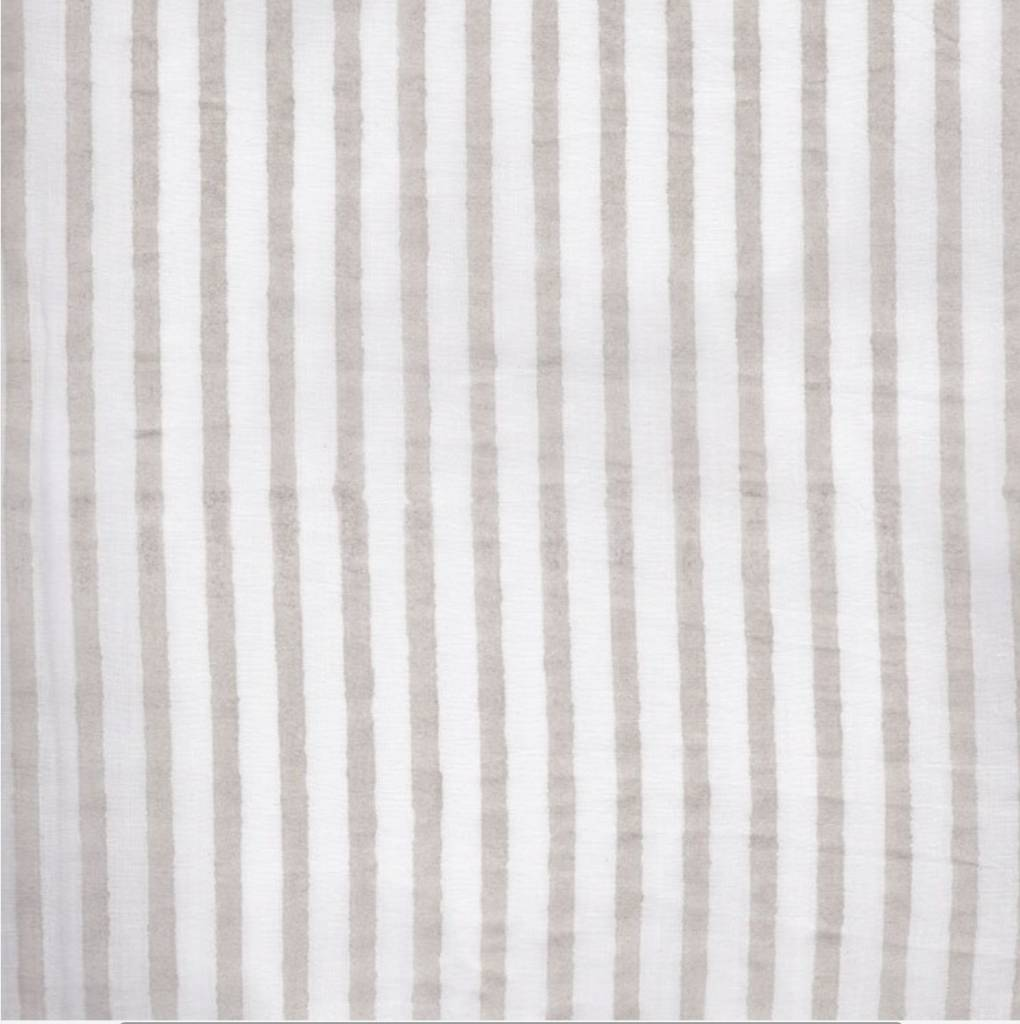 Kerry Cassill KC King Pillow Case Dove Stripe