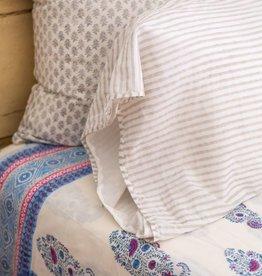 Kerry Cassill KC King Pillow Case Dove Stripe