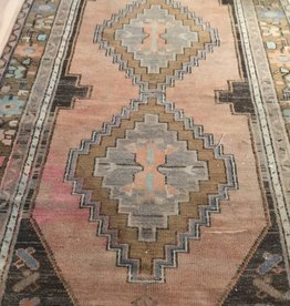 Oushak runner with Chocolate and orange tones