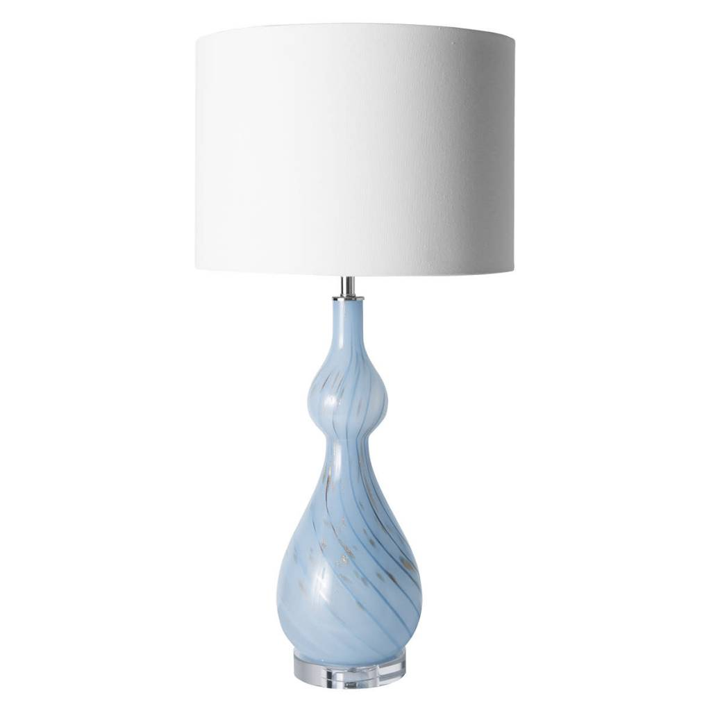 """""""Maeve"""" Blue/gold lamps"""
