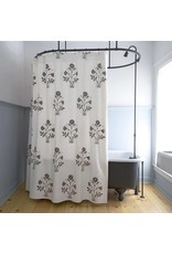 Les Indiennes Veronique Shower Curtain in Grey