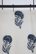 Les Indiennes Indian Flower Shower Curtain in Indigo