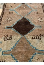 Large Brown Oushak Runner
