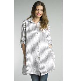 Tempo Paris Linen Stripe Tunic