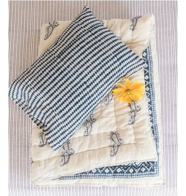 Kerry Cassill KC Baby Quilt in Ink with Check