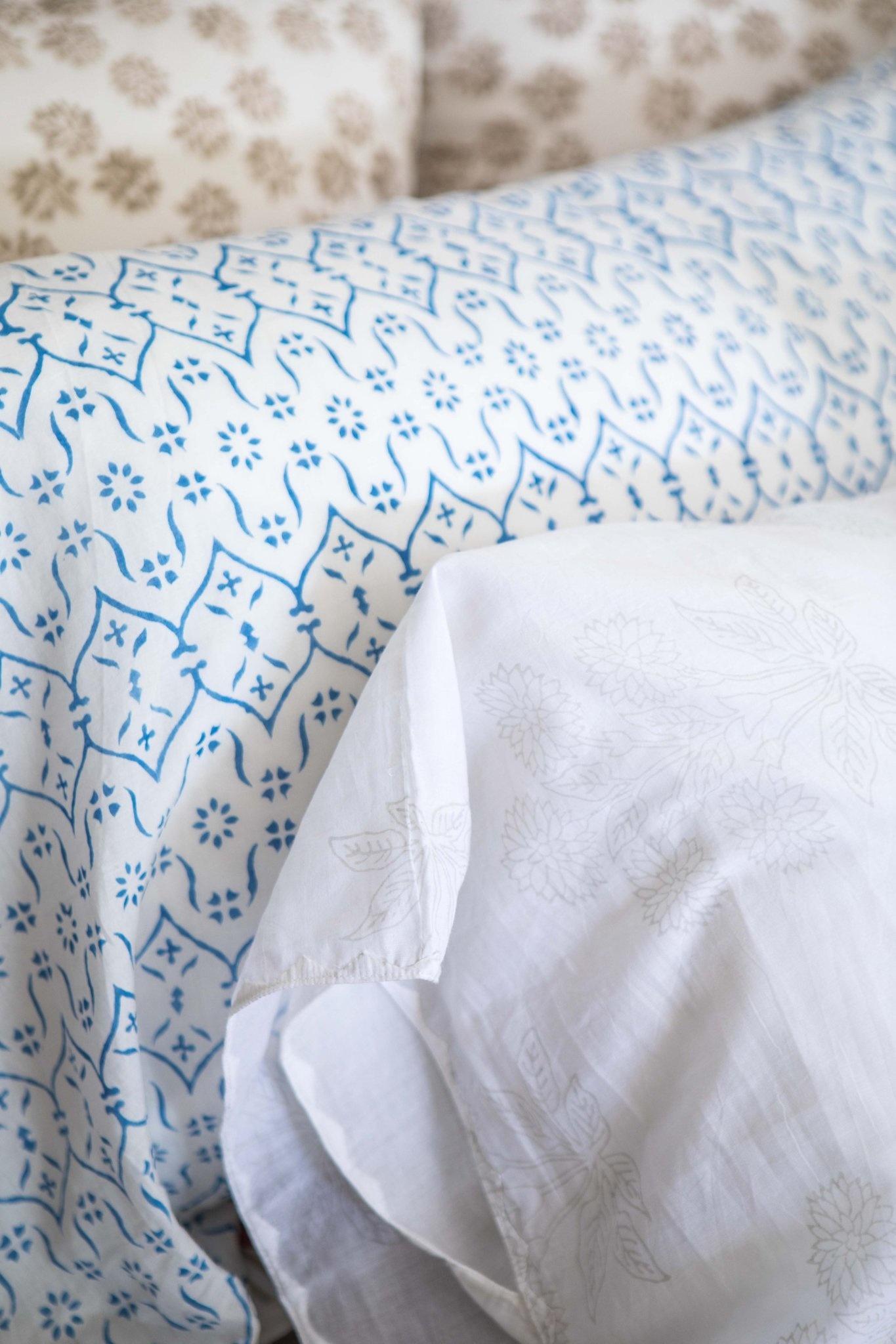 Kerry Cassill KC Standard Pillow Case Blue Wallpaper