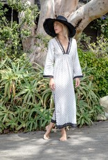 Kerry Cassill long Sleeve Maxi Dress Leaf