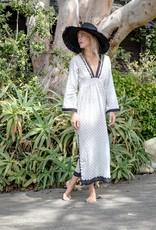 Kerry Cassill long Sleeve Maxi Dress Leaf