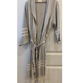 Home & Loft Istanbul Linen Robe - Grey