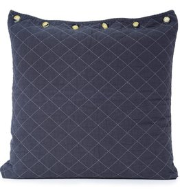 Quilted Euro Sham Charcoal