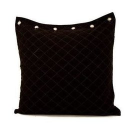 Quilted Euro Sham Black