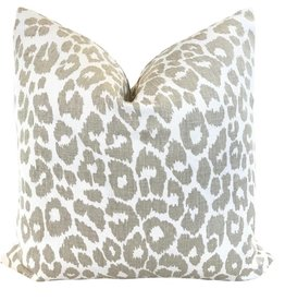 "Ashley Meier Fine Linens Schumacher 18"" Iconic Leopard Pillow"