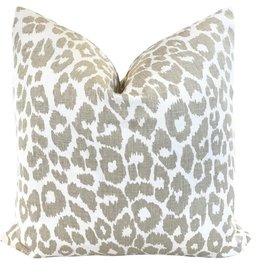 """Ashley Meier Fine Linens Schumacher 18"""" Iconic Leopard Pillow"""