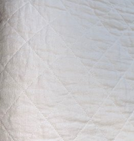 Quilted Twin Coverlet Bleach White
