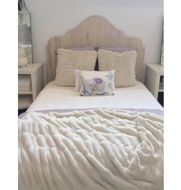 Phillips/Scott Queen Whitewashed Headboard