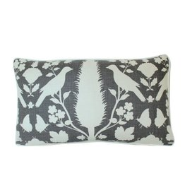 "Ryan Studio Chenonceau Charcoal  14"" x 20"" pillow"