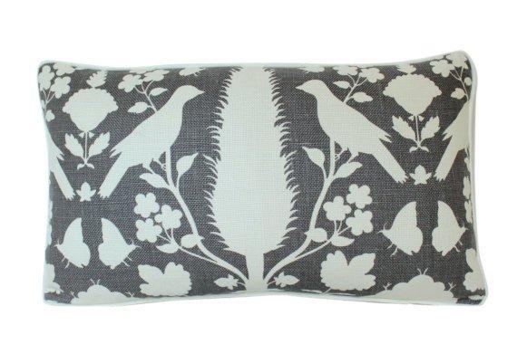 """Ryan Studio Chenonceau Charcoal  14"""" x 20"""" pillow"""
