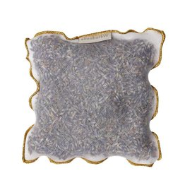 Elizabeth W EW Lavender Sachet Gold Trimmed