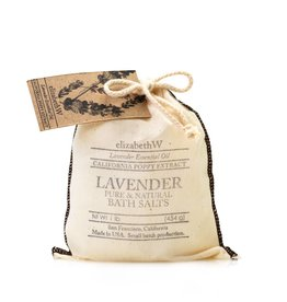 Elizabeth W EW Bath Salts in Bag Lavender