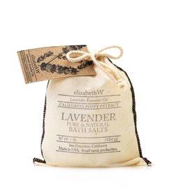 Elizabeth W EW Bath Salts in Bag Lavender