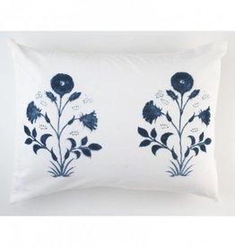 """Les Indiennes Les Indiennes """"Veronique"""" Standard Pillow Sham Pair - Indigo"""