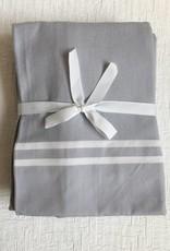 Scents and Feel Shower Curtain Herringbone, Grey/White Stripes