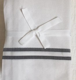 Scents and Feel Shower Curtain Herringbone, white/black stripes