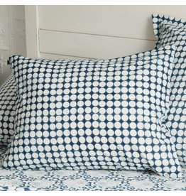 "Les Indiennes Les Indiennes ""Tania"" Dot Reverse std case pillowcase - indigo"