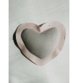 Elizabeth W EW Lavender Heart Sachet in Pink Linen