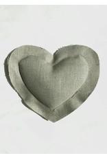 Elizabeth W EW Lavender Heart Sachet in Natural Linen