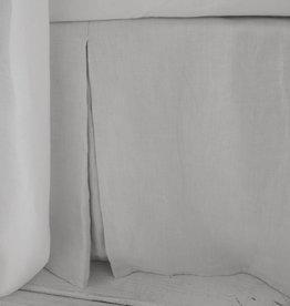 Matteo Vintage Linen bed panel White Queen