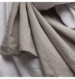 Matteo Vintage Linen flat sheet White King