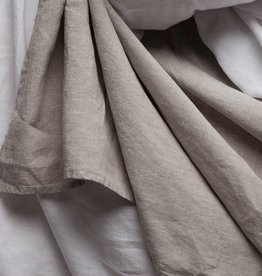 Matteo Vintage Linen flat sheet Off White King