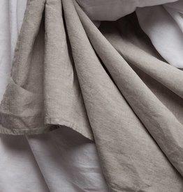 Matteo Vintage Linen flat sheet Greige Queen