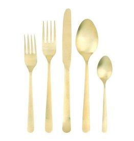 Canvas Home Oslo Cutlery Set 5pc Matte Gold