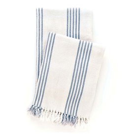 Pine Cone Hill Ibiza French blue throw