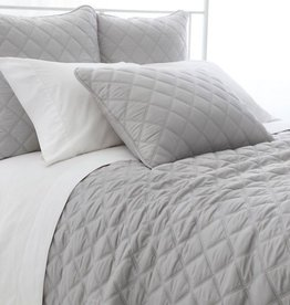 Pine Cone Hill Quilted silken solid grey coverlet - full/queen