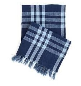 Pine Cone Hill Normandy navy throw