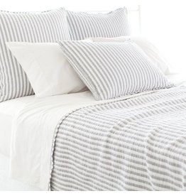 Pine Cone Hill Town and country grey matelasse coverlet- king