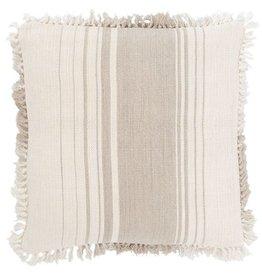 """Pine Cone Hill Harbor stripe natural decorative pillow 22"""""""