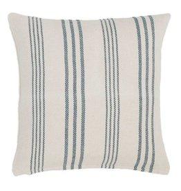Pine Cone Hill Swedish stripe woven cotton pillow